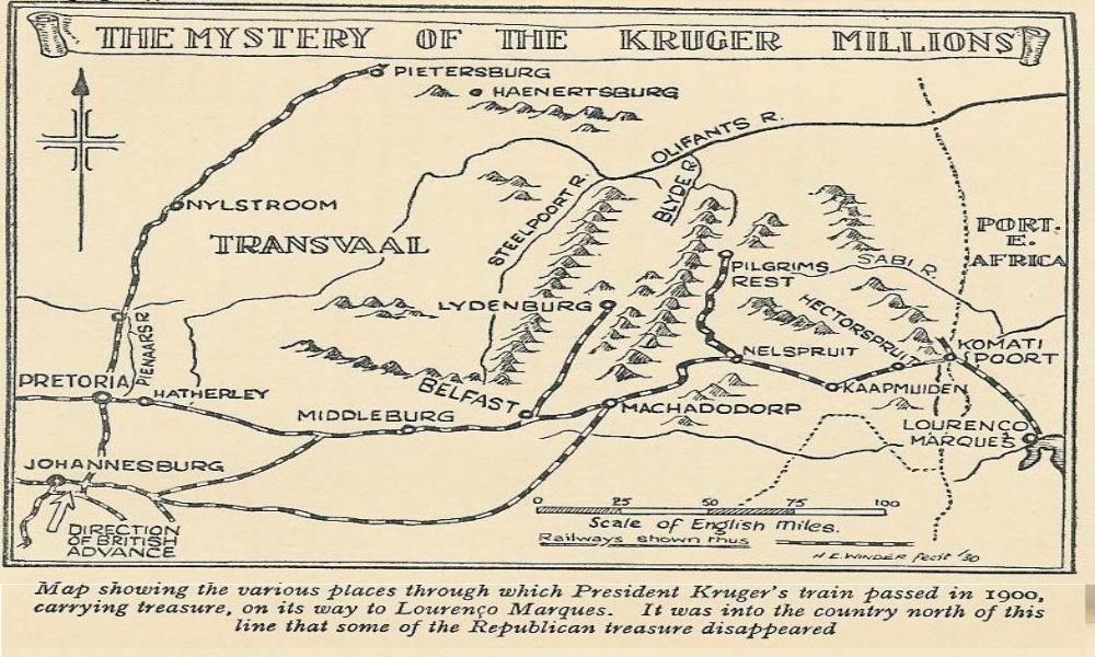 Kruger Milliojns map